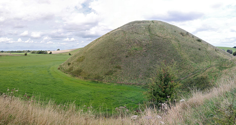 The west side of Silbury Hill