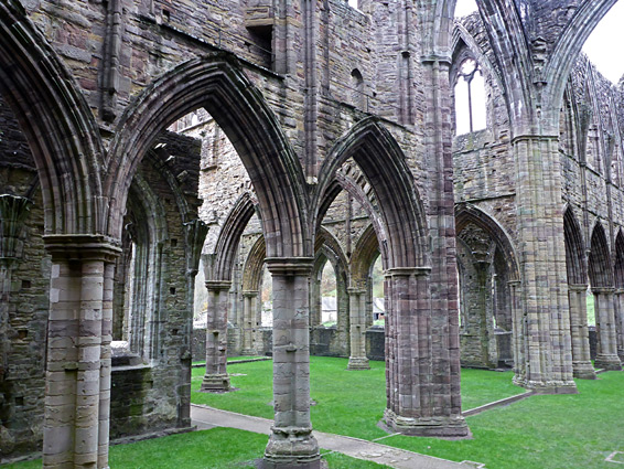 Tintern Abbey - arches of the north transept