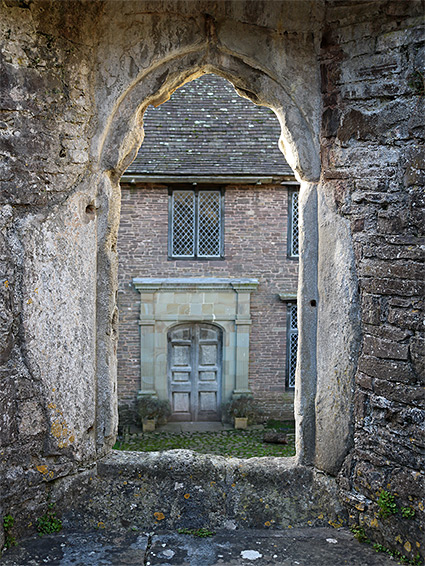Window frame in the east range of the court
